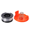 1 + 2 30ft Trimmer Line Remplacement String Trimmer Spool Cap Cover Spring For Black and Decker String Trimmers